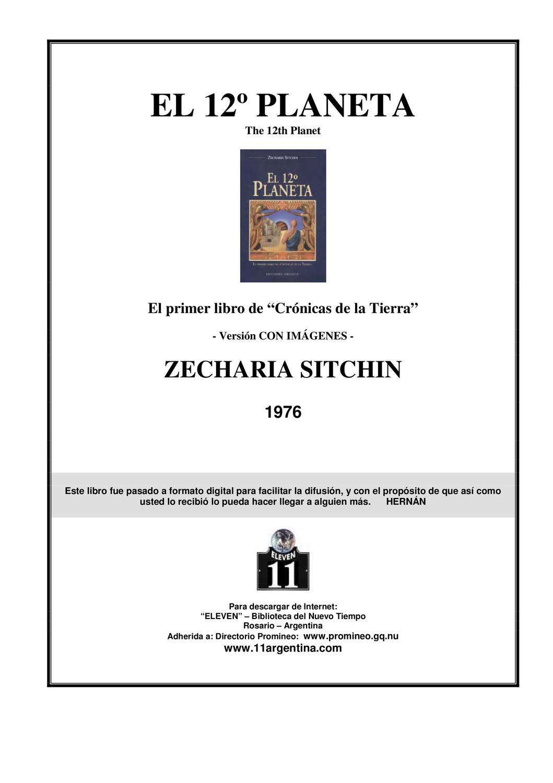Zecharia Sitchin - crónicas de la tierra 1 - el 12 planeta by ...