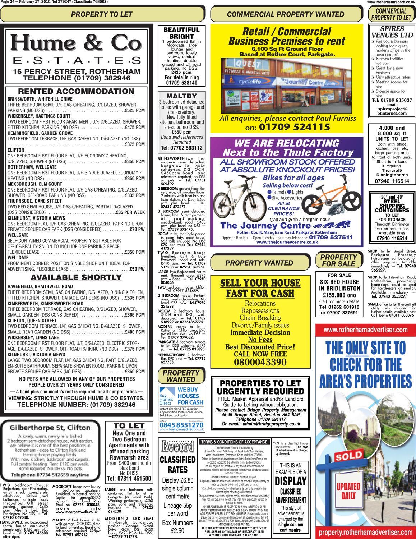 Rotherham record by rotherham advertiser issuu for Garden room braithwell