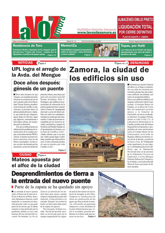 LA VOZ DE ZAMORA 0115 by La Voz de Zamora - issuu