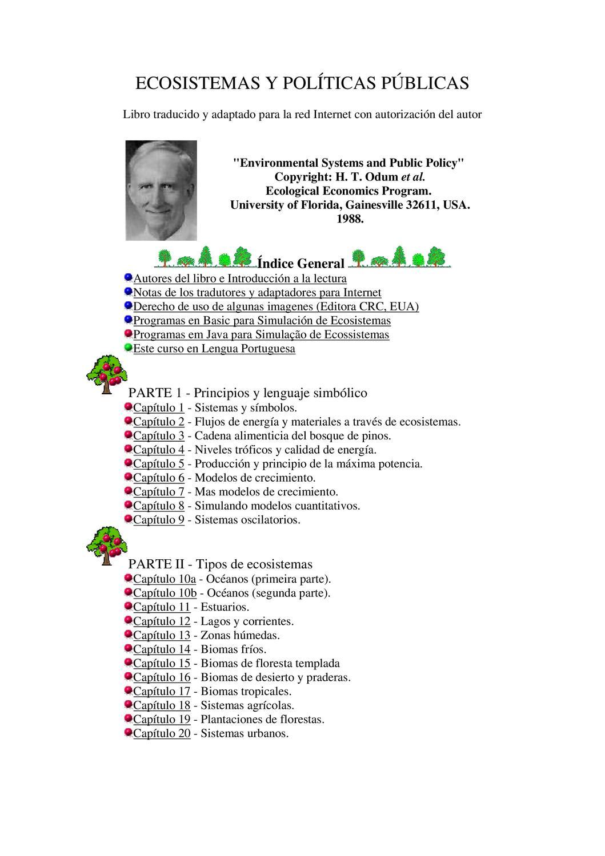 ECOSISTEMAS Y POLÍTICAS PÚBLICAS by Universidad Nacional Abierta y a ...