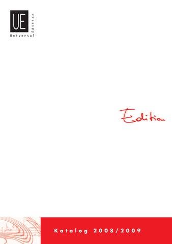 UE Editions Katalog by Universal Edition - issuu