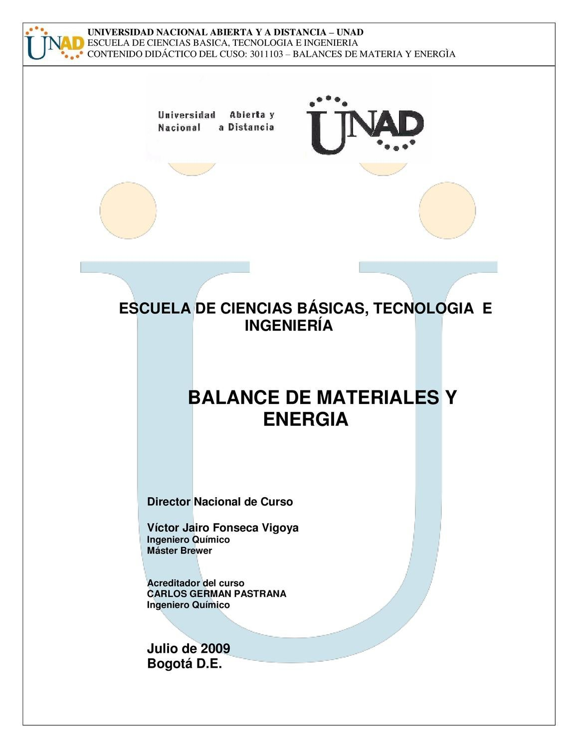 Balance de Materiales y Energia by victor fonseca - issuu