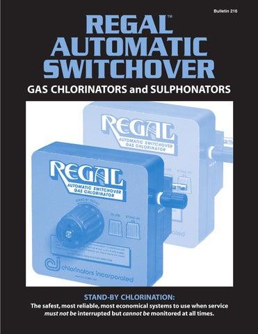 Regal Automatic Switchover Chlorinators Sulphonators