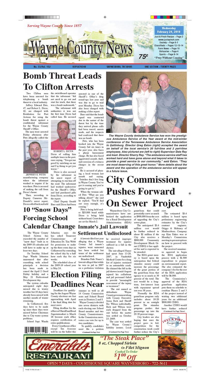Wayne County News 02-24-10