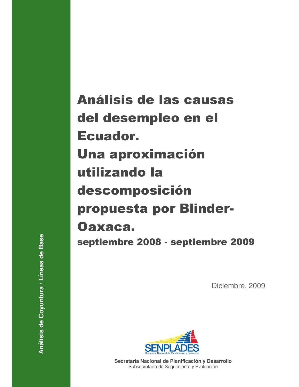 Causas de Desempleo by Senplades - issuu