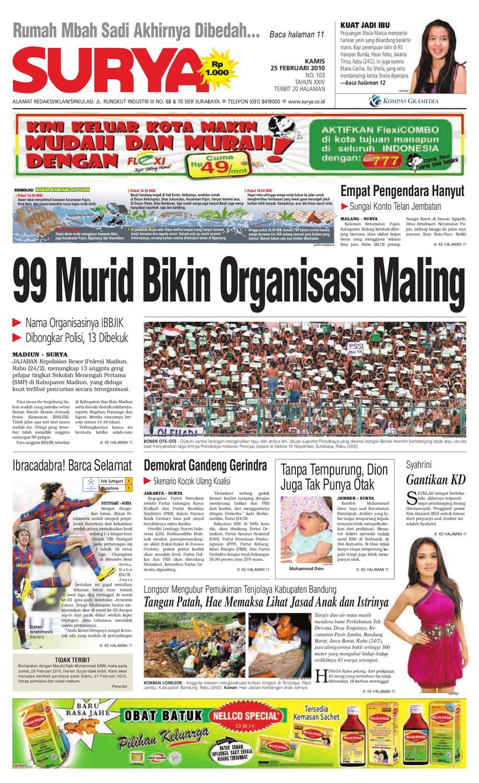 Surya Edisi Cetak 25 Feb 2010 By Harian Issuu Penutup Toilet Duduk Otomatis Izen Ib 450