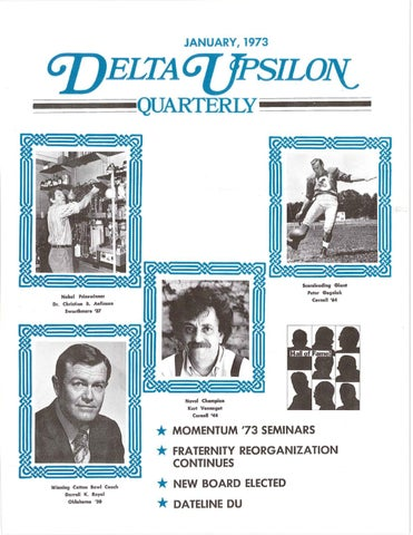 Quarterlywinter1973 By Delta Upsilon Issuu