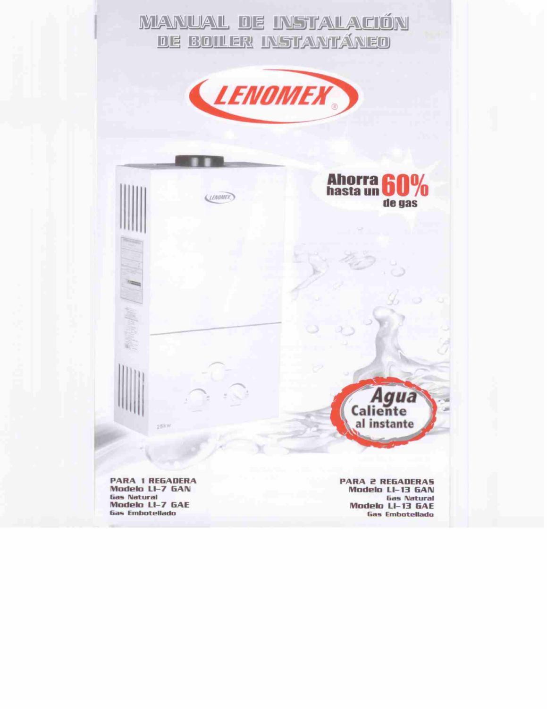 Manual De Instalacion Boilers Lenomex By H2o Tek Sa Cv Issuu Rheem Water Heater Wiring Diagram