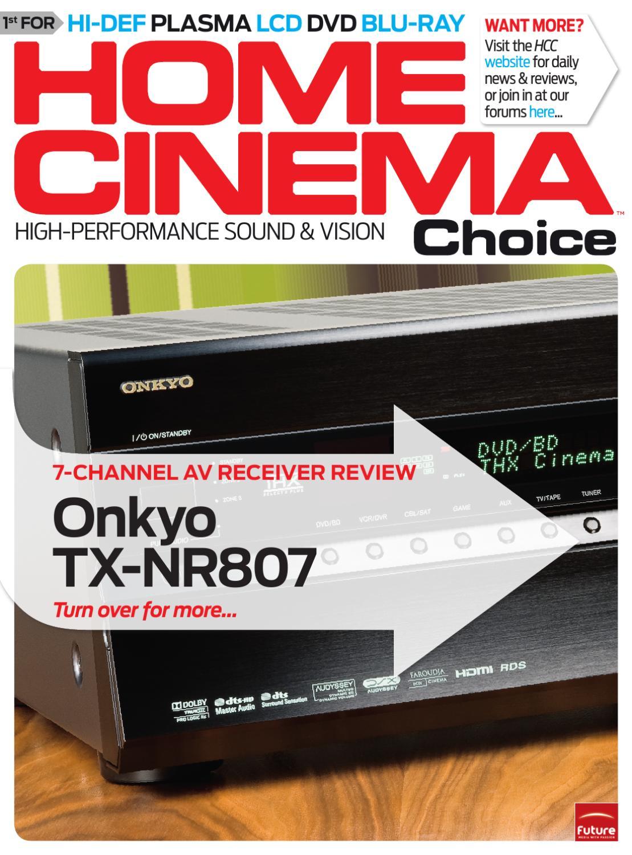 Onkyo TX-NR807 AV receiver review by Home Cinema Choice - issuu
