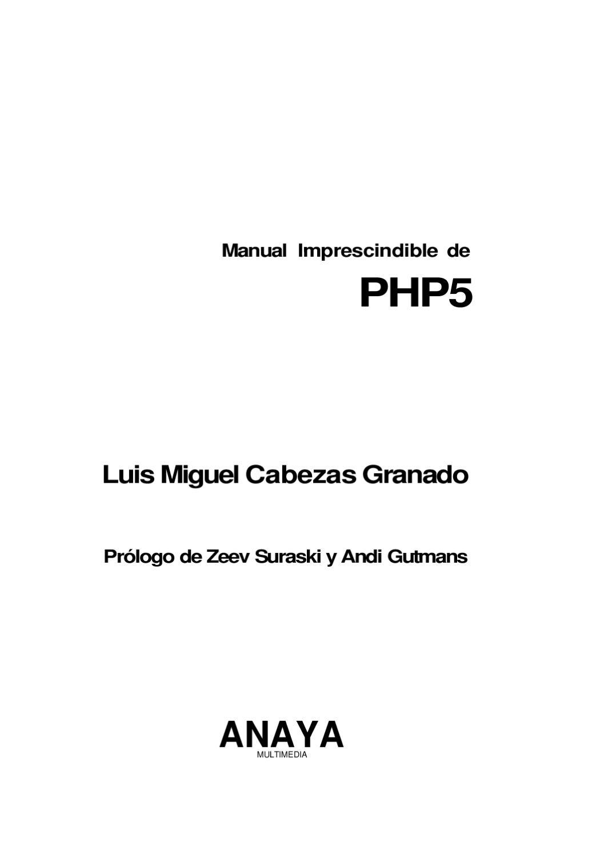 PHP5 Manual by Nestor Viana - issuu