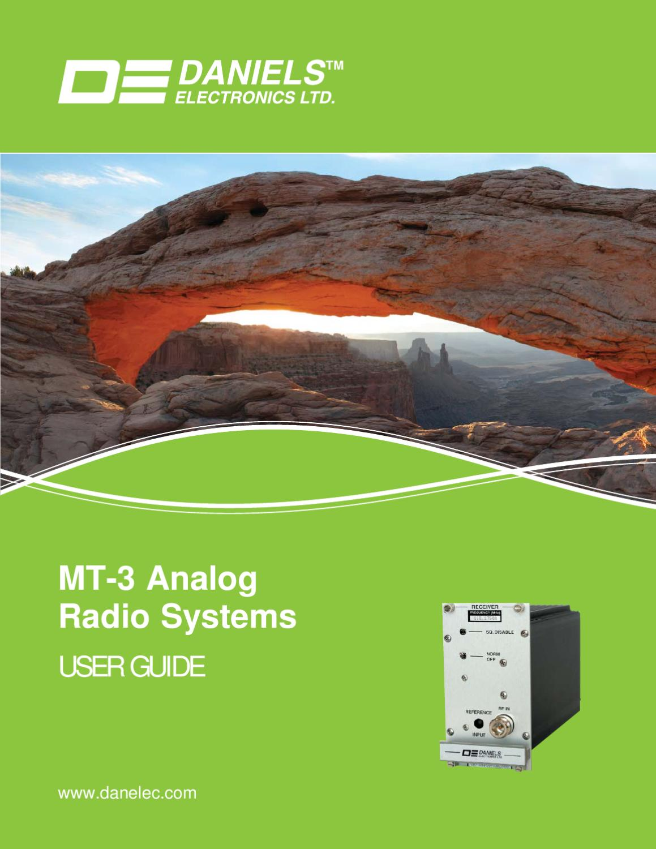 Daniels Mt 3 Analog Radio Systems User Guide By Web Admin Issuu Figure 2 Am Radiotelephone Transmitter Block Diagram