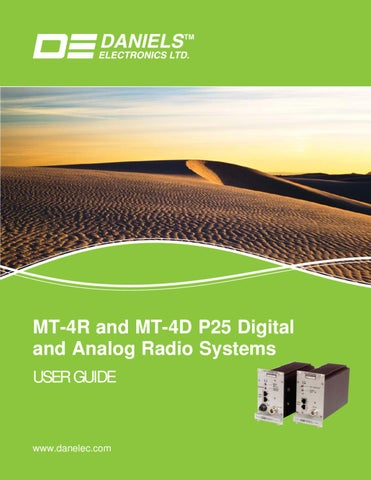 Daniels MT-4R and MT-4D P25 Digital and Analog Radio Systems User