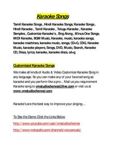 Karaoke Songs (Indian) by VM Studio Chennai - issuu