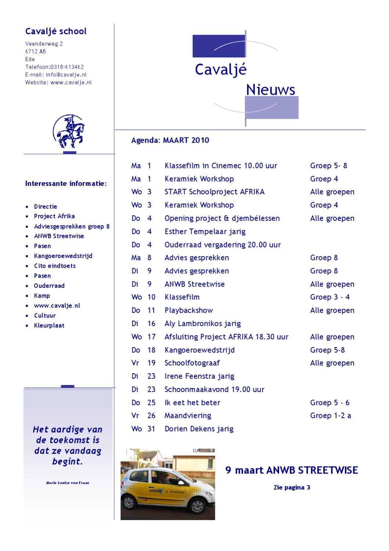 nieuwsbrief cavalj 233 maart by cns basisschool cavalj 233 issuu