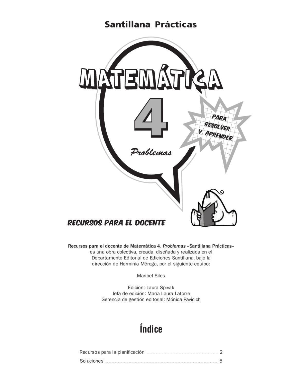 Santillana Práticas Matemática 4 by Marcela Lalia - issuu
