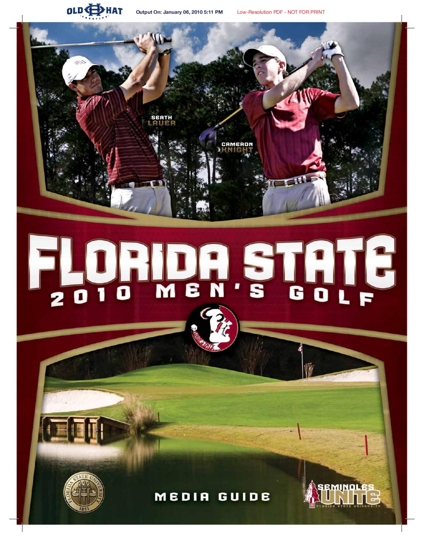 2010 florida state men u0027s golf media guide by florida state