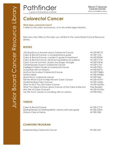 Christiana Care Library Pathfinder Colorectal Cancer By Christianacare Issuu