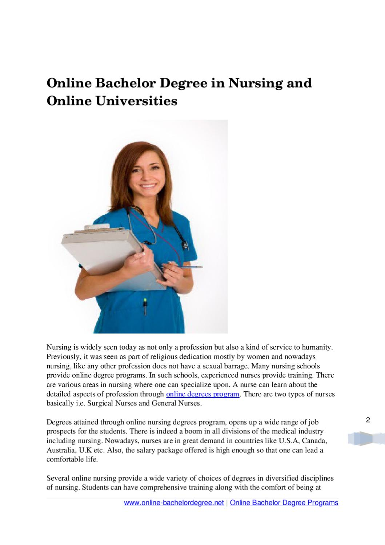 Online Bachelor Degree In Nursing And Online Universities By Daniel