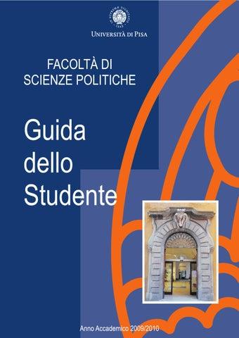 Unipi Calendario Accademico.Guida Della Facolta Scienze Politiche Pisa 8 Edizione