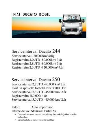 fiat ducato serviceintervall