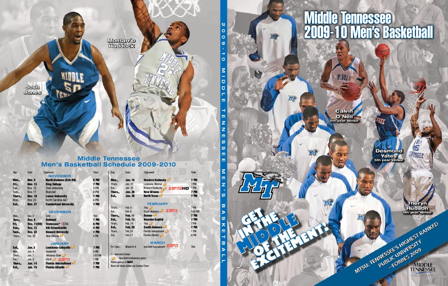2009-10 Men s Basketball Meida Guide by Middle Tennessee State University -  issuu a717b1502c