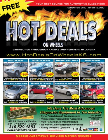 Hot Deals On Wheels February 26 2010 By Jennifer Margreiter Issuu