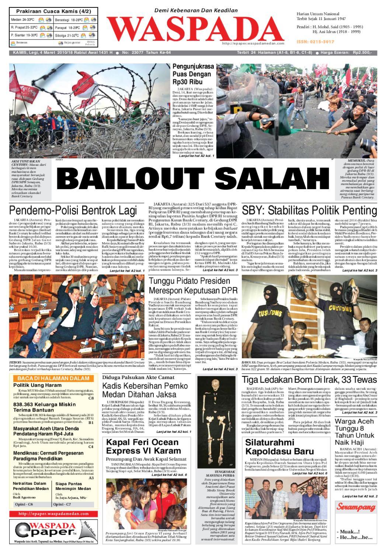 waspada, Kamis 4 Maret 2010 by Harian Waspada - issuu