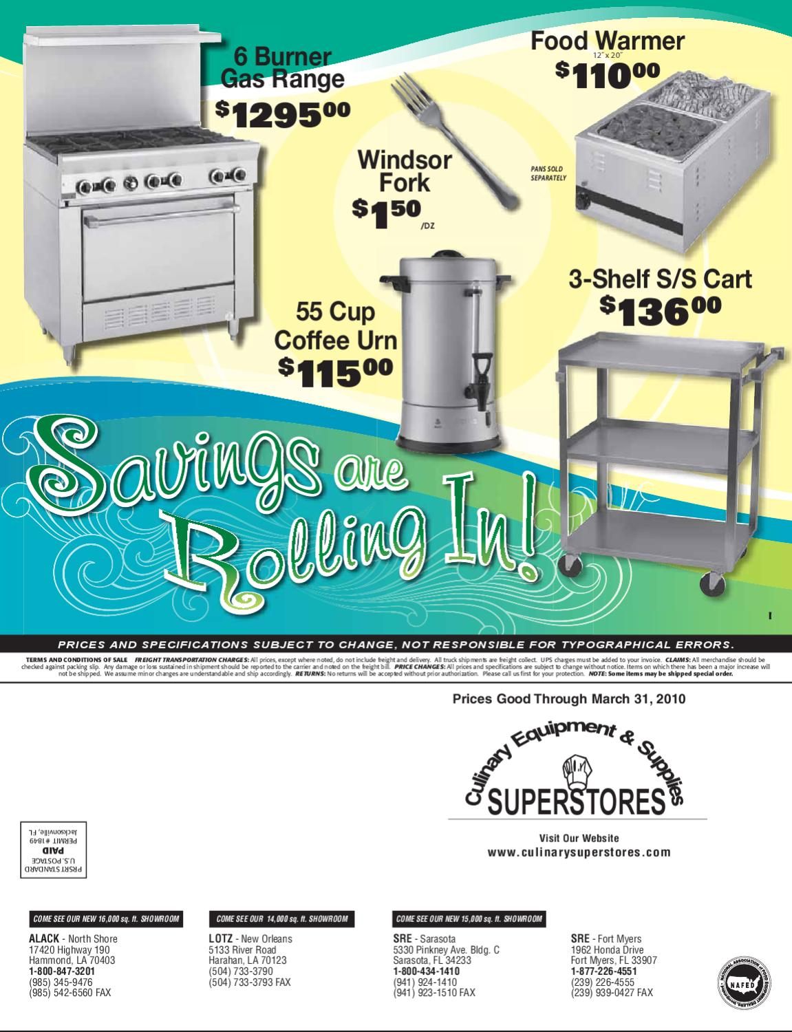 Culinary Superstores - Savings are Rolling In! by Kenneth Verrette ...