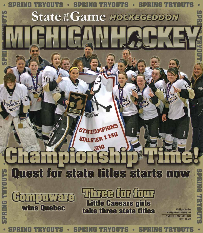 Michigan Hockey March 82010 By Chuck Stevens