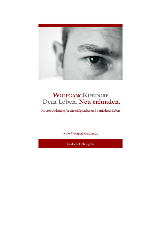 Leseprobe: Dein Leben. Neu Erfunden by Wolfgang Kierdorf - issuu