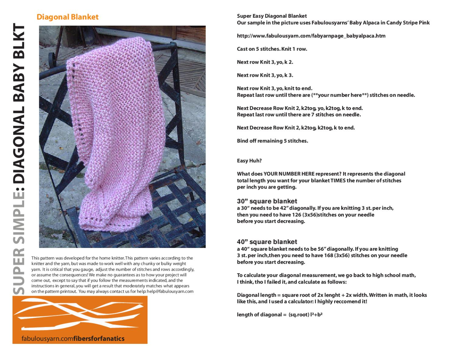 Diagbabyblanket By Judy Schmitz Issuu