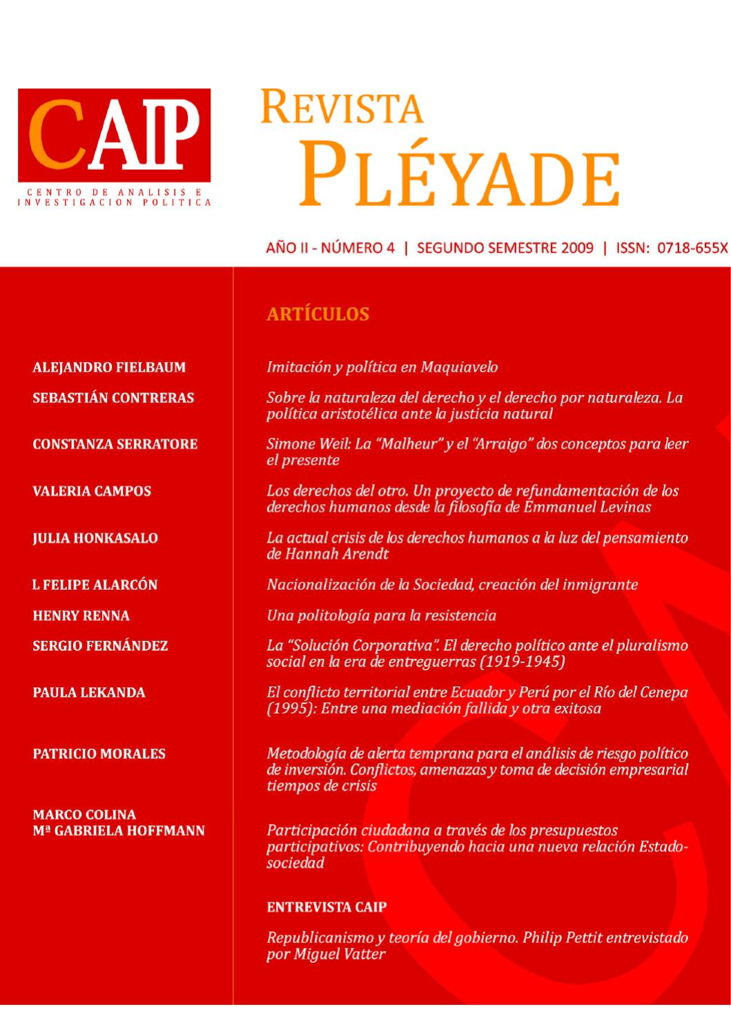 REVISTA PLÉYADE Nº4 by Revista Pléyade - issuu
