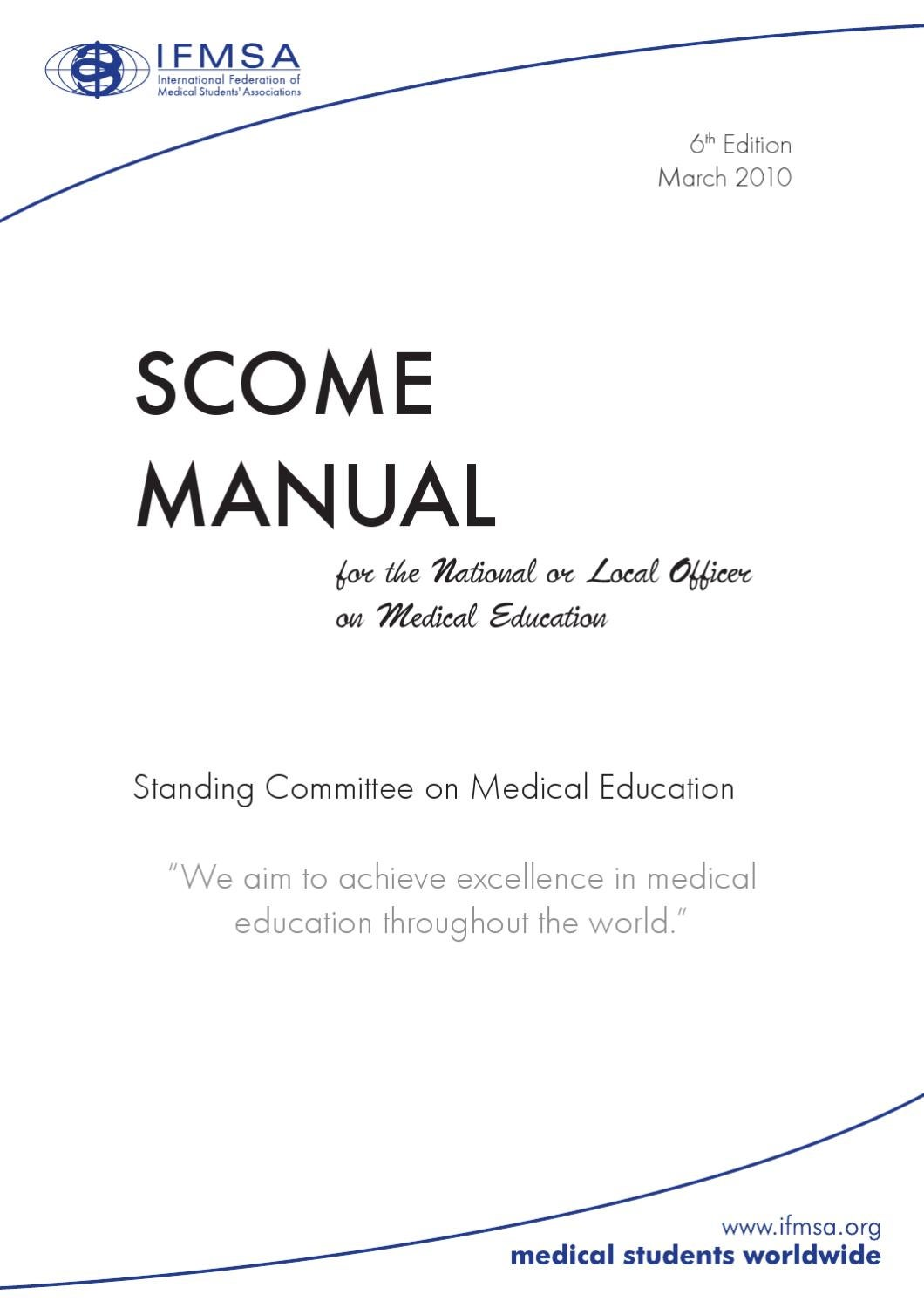 SCOME Manual 6 by International Federation of Medical Students'  Associations - issuu