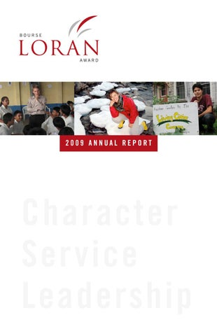ece81a1d985 2009 Loran Awards Annual Report by Jesse Helmer - issuu