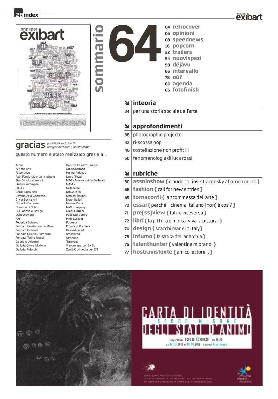 Exibart.onpaper n.64 by Exibart srl - issuu