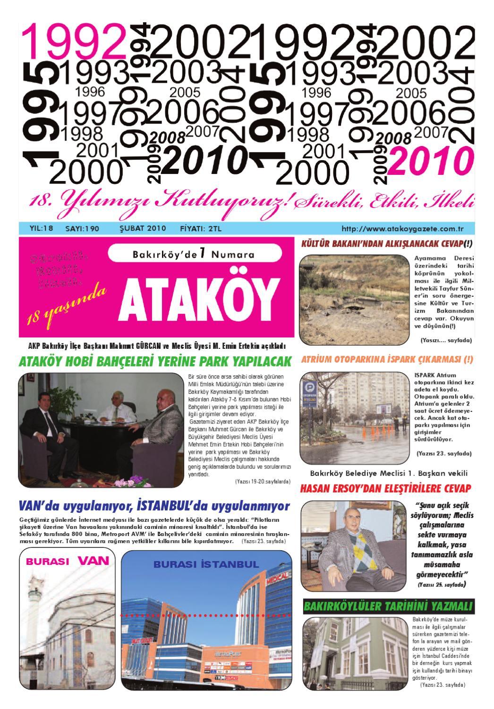 Atakoy Gazete Sayi 190 By Gokhan Atamer Issuu
