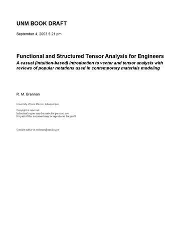 Book tensor analysis