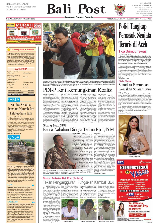 Edisi 09 Maret 2010 Balipostcom By E Paper Kmb Issuu Voucher 300 Plus Tiara Gatzu Monang Maning Toko Soputan