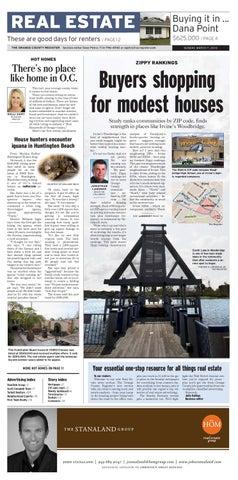 6ce130c5de New Orange County Register Sunday real estate section by jon lansner ...