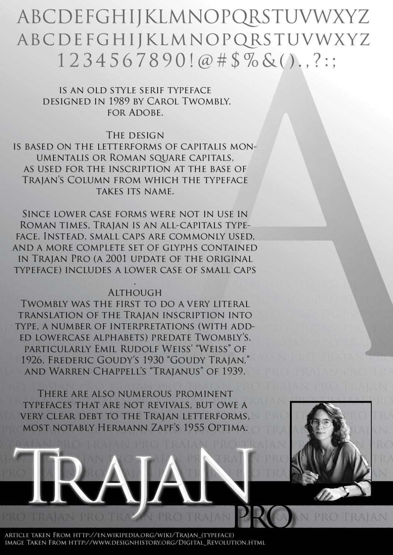 Trajan Pro by Chilwin Theodoroes - issuu