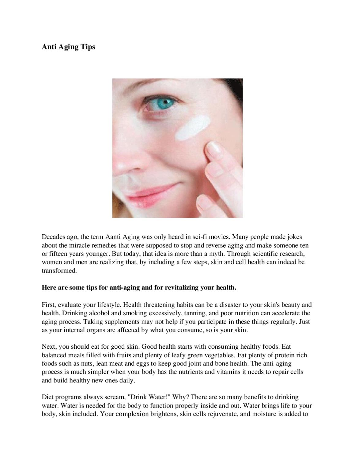 Anti Aging Tips by Gold Crown - issuu