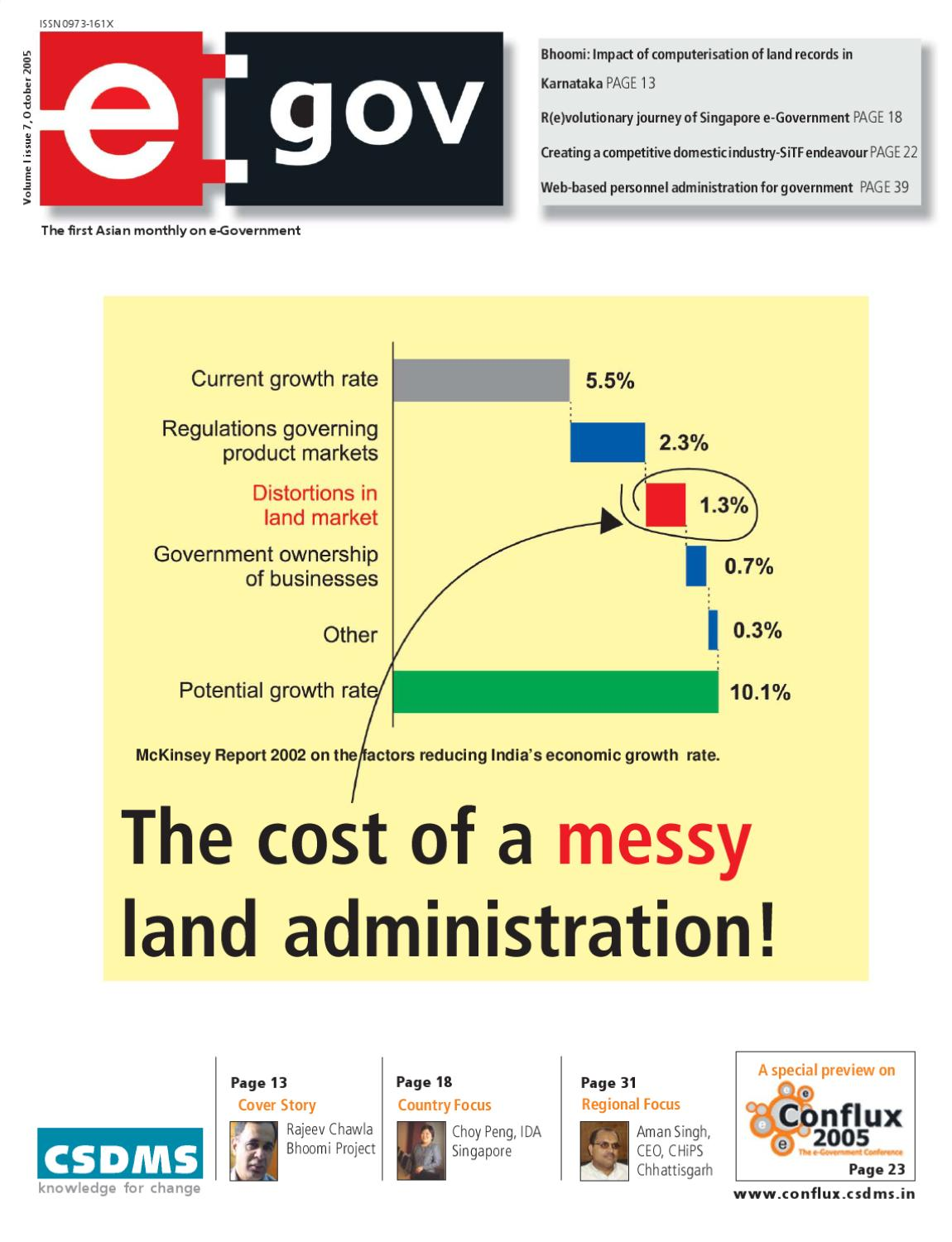 The cost of a messyland administration: October 2005 Issue