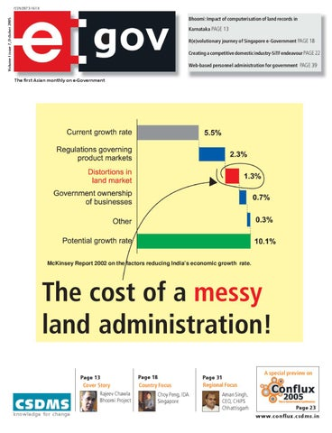 The cost of a messyland administration: October 2005 Issue by eGov
