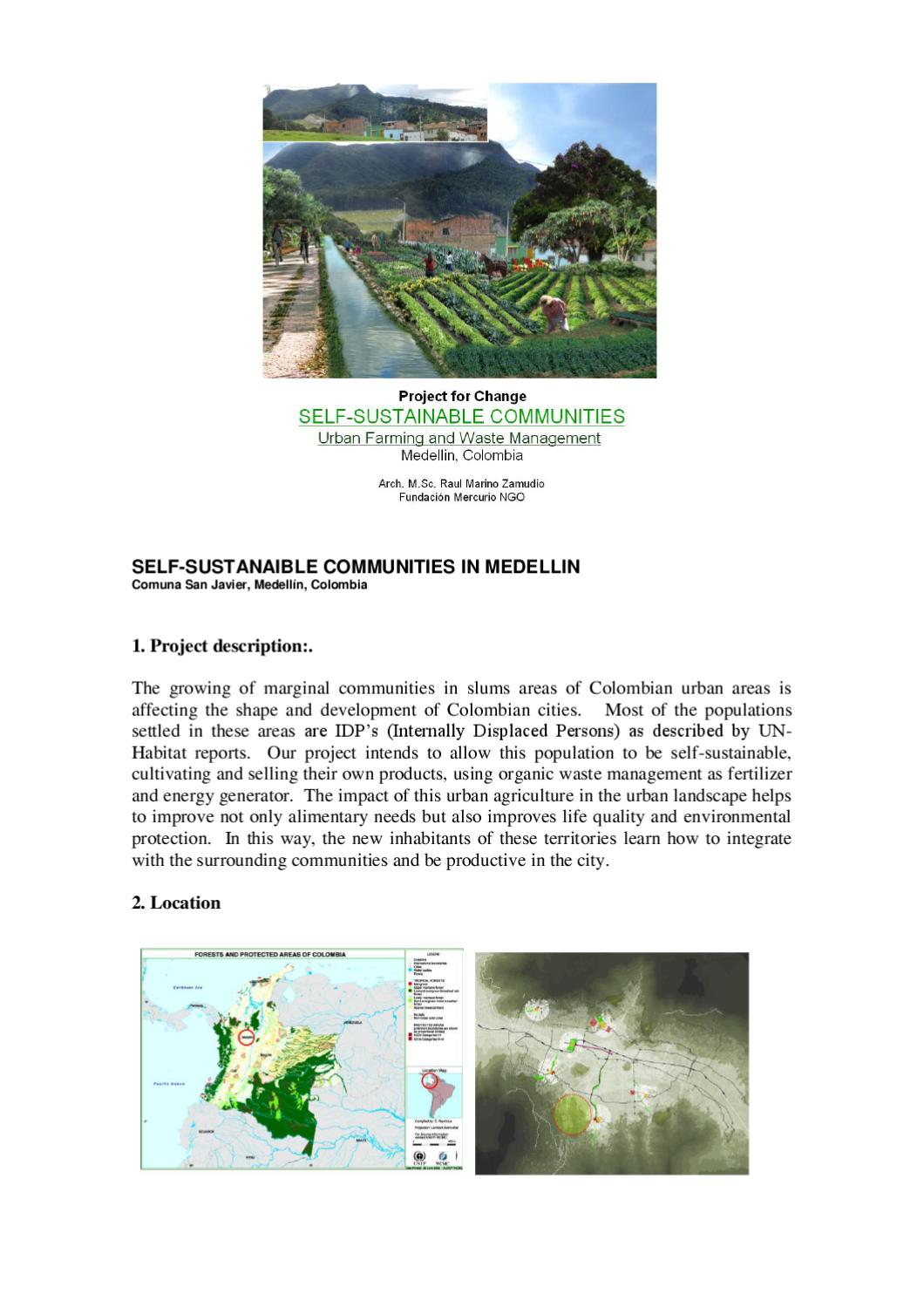 Self-sustainable communties Urban Farming u0026 Waste Management programms in Medellin Colombia by ...