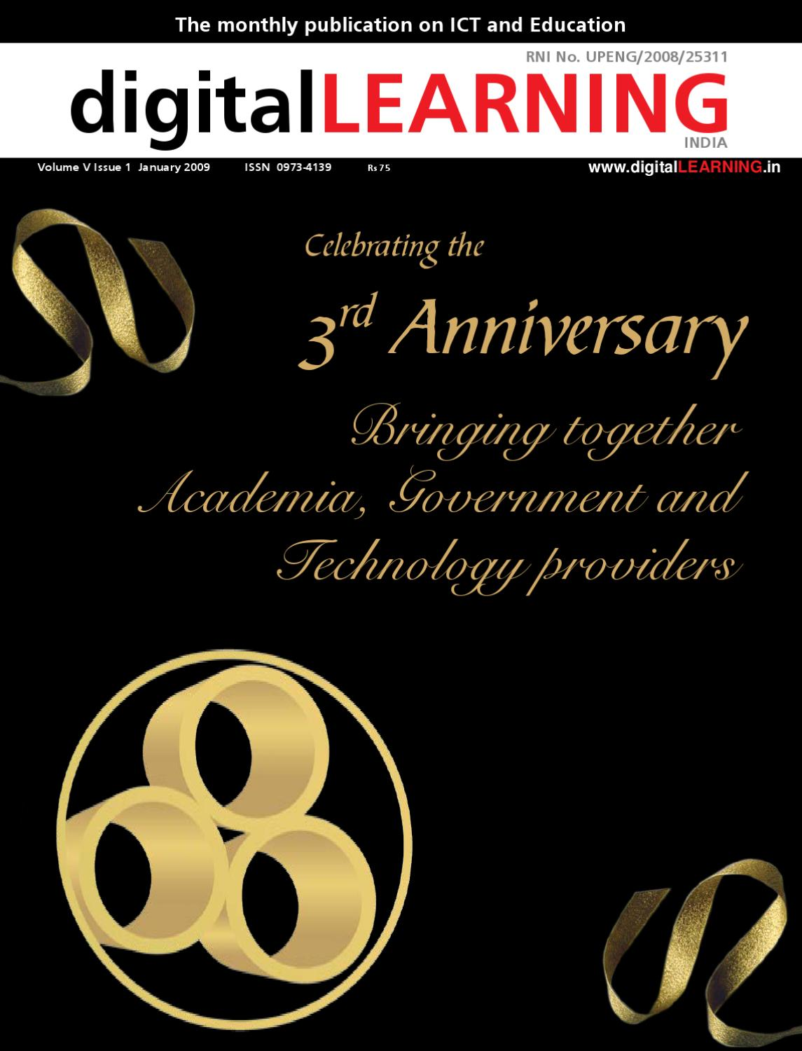 Bringing Together Academia Government And Technology Providers How To Read Electrical Drawings Tutorvista Answers January 2009 Anniversary Issue By Digital Learning Magazine Elets Technomedia Pvt Ltd