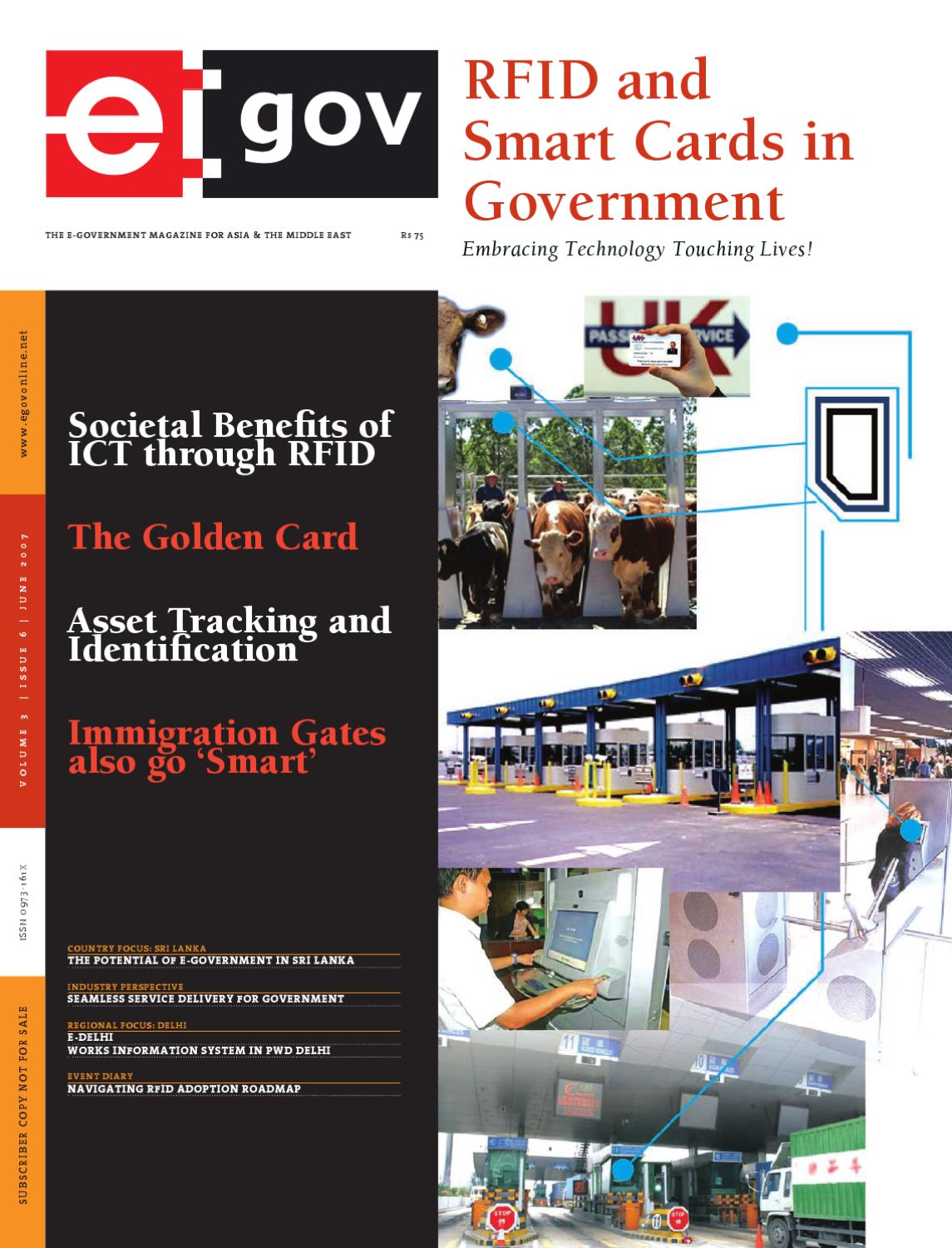 Rfid And Smart Cards In Government June 2007 Issue By Egov Magazine Tuned Circuit Value Switching Electrical Engineering Stack Elets Technomedia Pvt Ltd Issuu