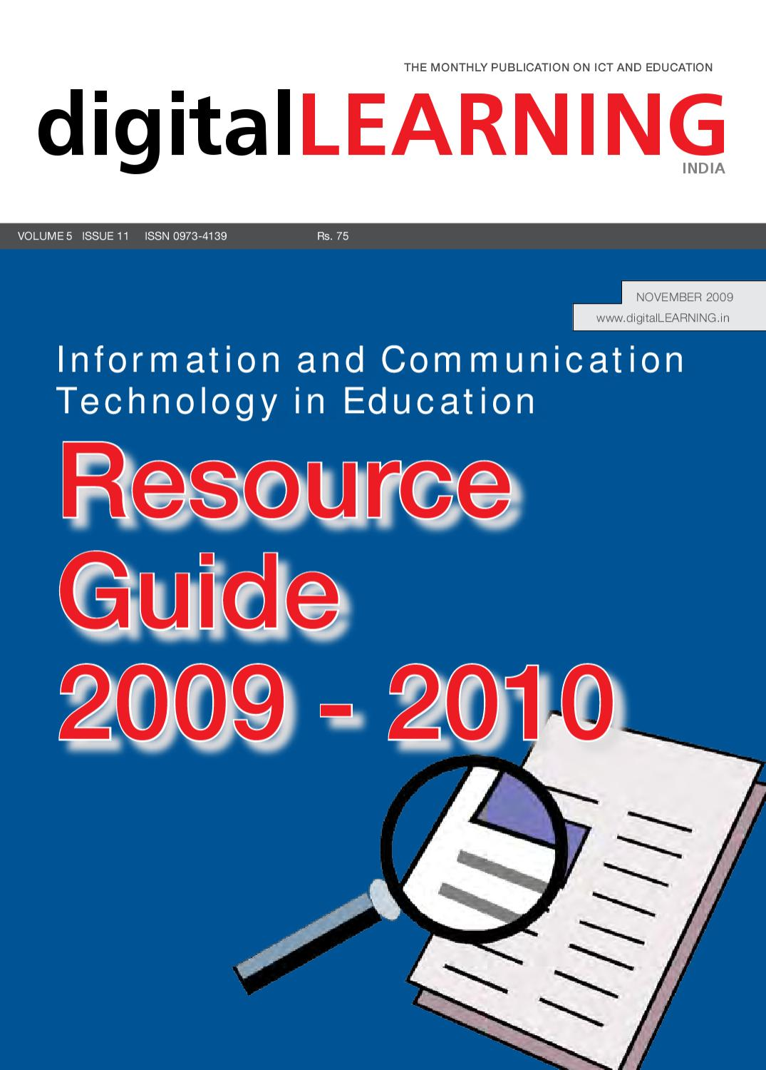 ICT in Education - Resource Guide 2009 - 2010 : November