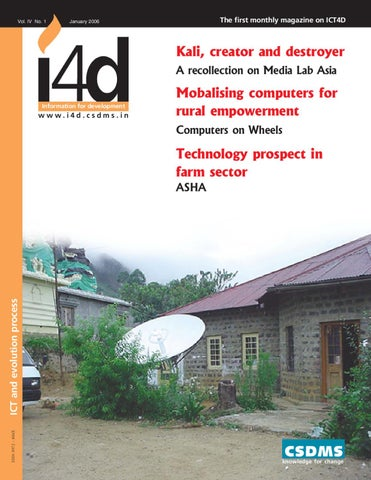 ICT and evolution process : January 2006 Issue by i4d