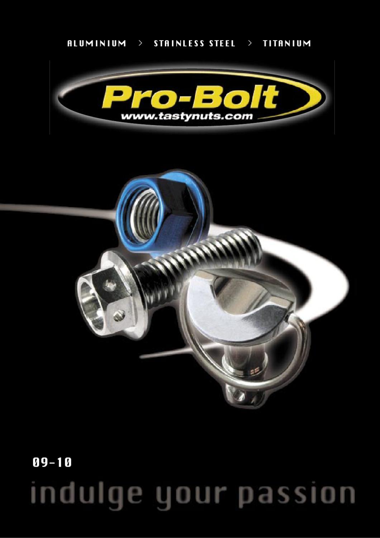 Natural Titanium 1.25mm Pro-Bolt Titanium Dome Head Bolt M8 x x 20mm
