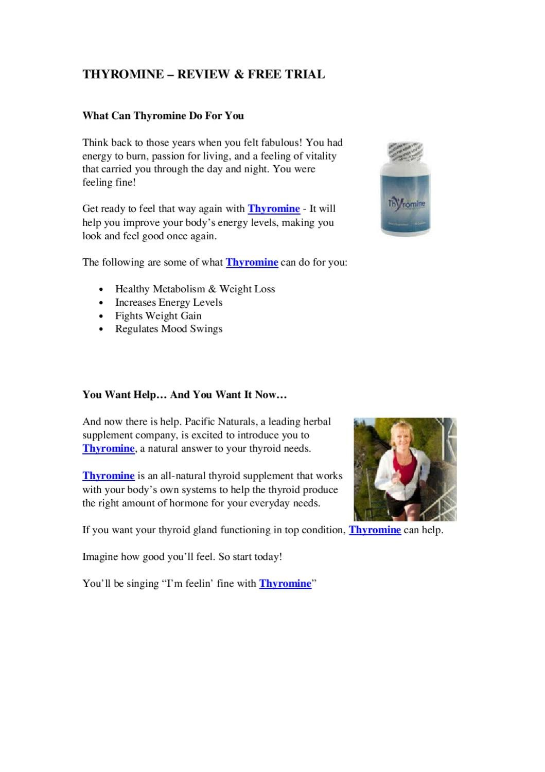 Thyromine Review Free Trial By Tiffany Brown Issuu